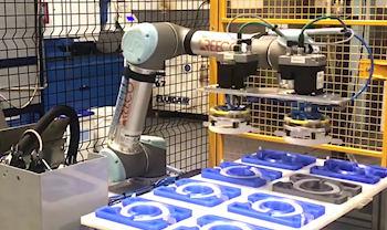 Robot dispensing and gluing