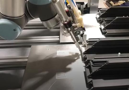 Robotic adhesive dispensing