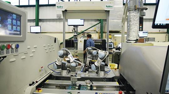 Cobot Electronic Assembly Line Integration